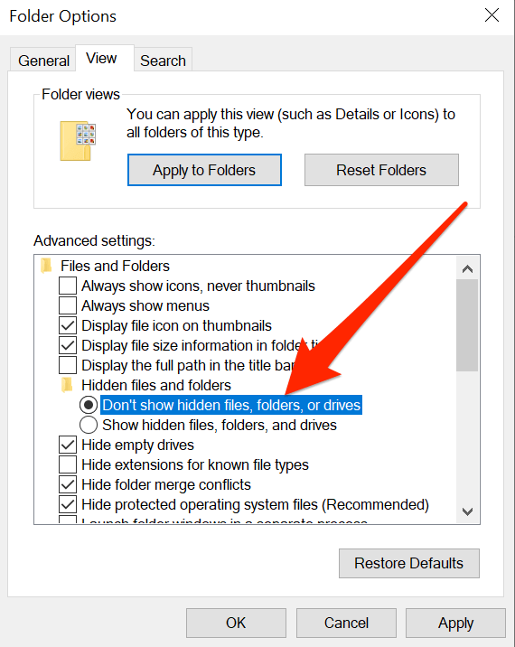 How To View Hidden System Files In Windows 10